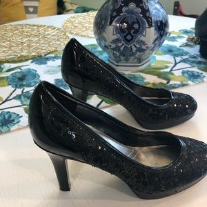 Black sequence heels!